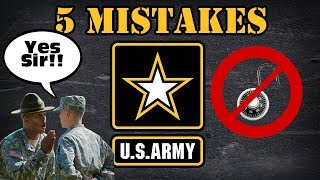 5 Army basic training mistakes