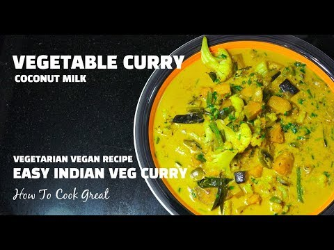 Vegetable Curry - Vegan Recipes - Vegetarian Recipes - Indian Coconut Veg Masala