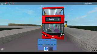 Roblox London Hackney & Limehouse bus Simulator Enviro 400H City Demonstrator Stagecoach on Route 8