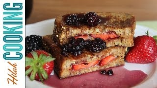 Pb&j French Toast With Berry Syrup    Hilah Cooking