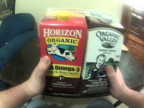 DrinkReview: Horizon Chocolate Milk vs. Organic Valley Chocolate Milk