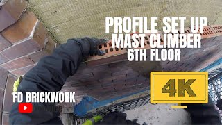 Bricklaying - Setting Up Profile 6th Mast Climber |4K