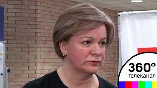 Лариса Лазутина проголосовала в Одинцовском филиале МГИМО