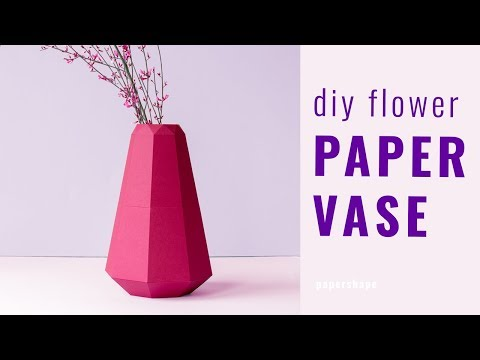 How to make a paper vase for flowers (template)