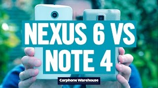 Nexus 6 vs Samsung Galaxy Note 4 – phablet comparison
