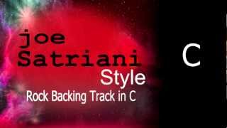 Rock Guitar Backing Track Joe Satriani Style C 131 bpm Highest Quality
