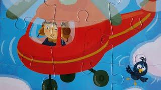 Развивающее видео Собираем пазлы для Детей Детский Вертолёт Учим детей