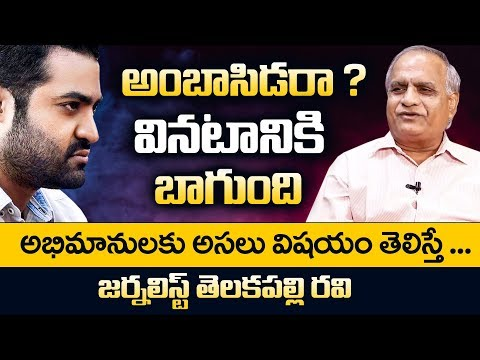 Jr NTR As Brand Ambassador of AP - Telakapalli Ravi about Jr NTR Will be the Brand Ambassador to AP