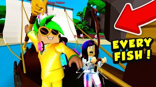 NOOB TO PRO: Getting Every Fish, Best Rod, & Boat in Roblox Fishing Simulator!