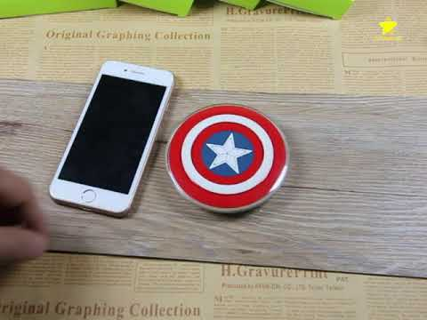 3D Cartoon Wireless Charger Qi Standard Fast Charge