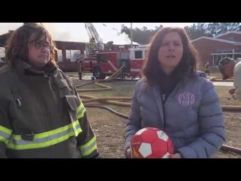 Old Dock Elementary School Principal & Volunteer Firefighters React to Fire | The News Reporter