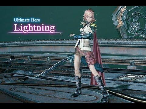 Mobius FF Lightning Ultimate Hero Job Animations Plus Sicarius Battles