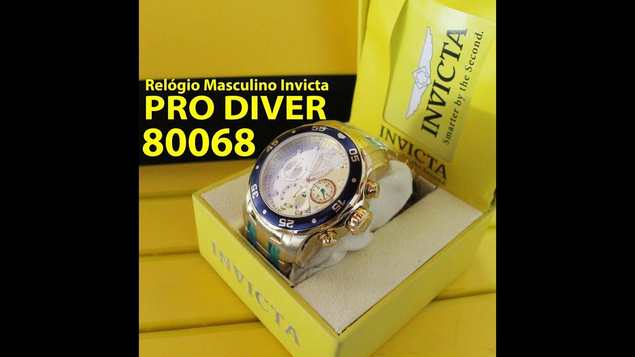 7a4e49ae306 Relógio Invicta 80068 Masculino Pro Diver - YouTube