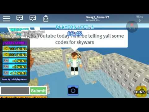 Roblox skywars codes - YouTube