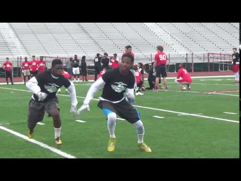 2016 All-State Football Camp - Pittsburgh -Terry Smith- LB- 1v1 Rep