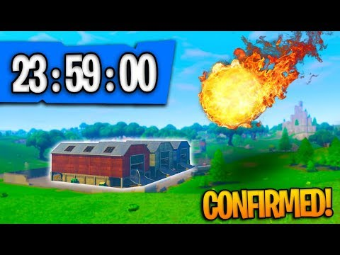 *NEW* CONFIRMED METEOR LOCATION + COUNTDOWN In Fortnite Battle Royale! (SEASON 4 UPDATE)