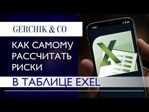 🔵Как рассчитать риски на Форекс самому в таблице Excel.