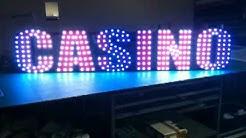 LED Casino Schriftzug