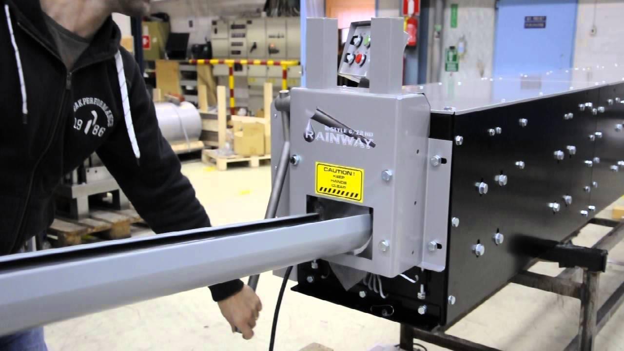 Half Round Gutter Machine Rainway Heavy Duty Youtube