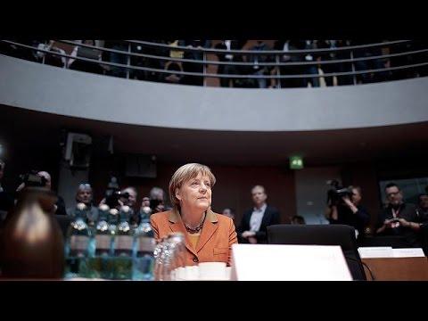 German Chancellor Merkel testifies on NSA spy scandal