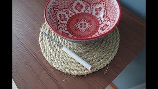 Sousplat rústico com corda – Atelie Greice Brigido
