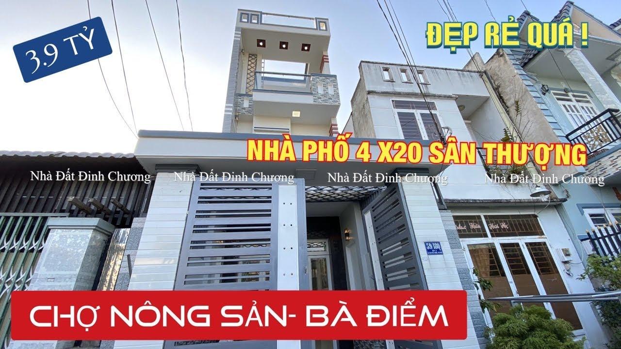 Nhà bán Hóc Môn 2020 4x20m sân thượng- chợ Nông Sản Hóc Môn