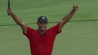 Tiger Woods Tour Championship 2018 WINS: BEST SHOTS, PGA Crowd Mobs the Course