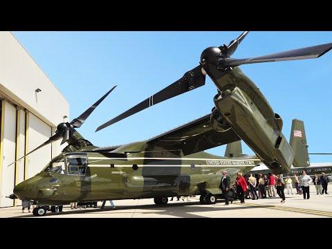 Testing The New US President $80 Million Helicopter: MV-22 Marine One