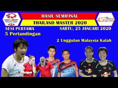 Hasil Semifinal Thailand Master 2020 ~ 2 Unggulan Malaysia Kalah