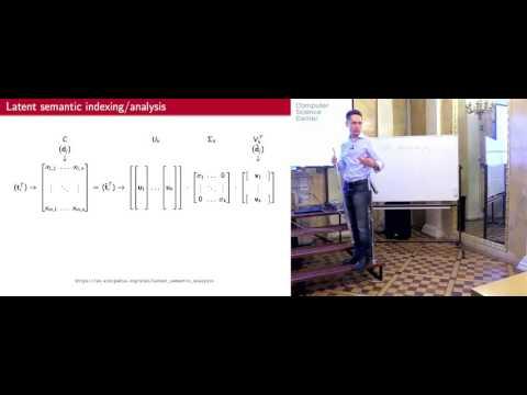 Лекция 9. Ранжирование с помощью семантических методов и анализа ссылок