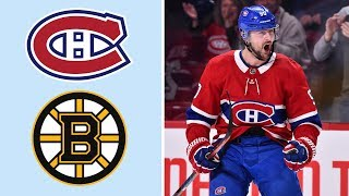 Montreal Canadiens vs. Boston Bruins | EXTENDED HIGHLIGHTS | 1/15/19 | NHL on NBC