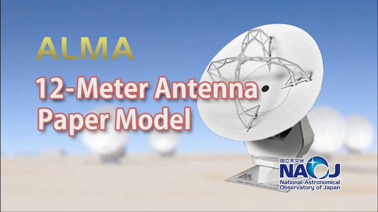Papercraft ALMA 12-Meter Antenna Paper Models