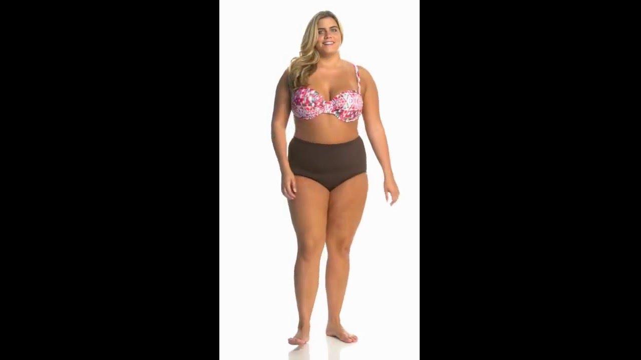 dc89da86d5d7e Sunsets Plus Size Veranda Convertible Retro Halter Bikini Top (E F Cup)