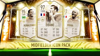 THIS IS WHAT I GOT IN 12x MIDFIELDER ICON PACKS! #FIFA21 ULTIMATE TEAM