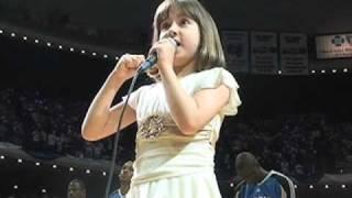 7-year-old Gina Incandela Sings National Anthem