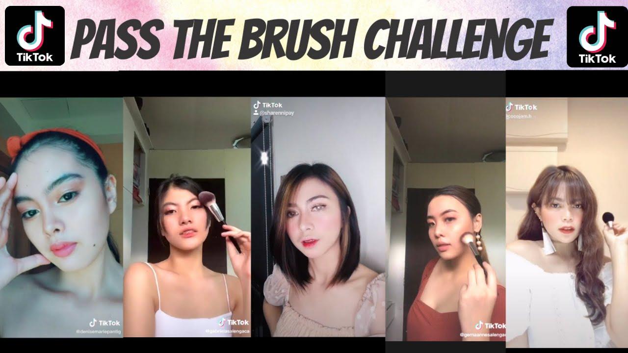 Pass The Brush Challenge Tiktok Compilation Youtube