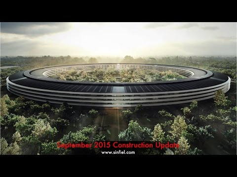 September 2015 drone footage of the new Apple Headquarters being built in Cupertino, California.