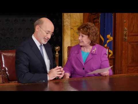 Governor Tom Wolf: 2017 Pink Ribbon Awardee