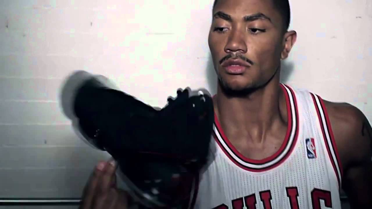 69ef52512d3b Derrick Rose Spinning His Shoe! Amazing ! Adidas Commercial - YouTube