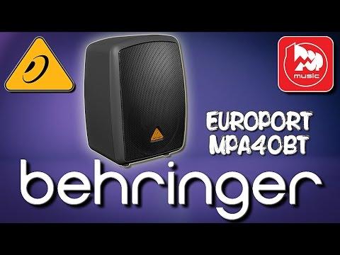 BEHRINGER MPA40BT EUROPORT - активная колонка со встроенным микшером. Работает от аккумулятора