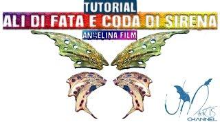 DIY Fimo Liquid Tutorial - Come fare le ali di fata e coda di sirena con Angelina film - Parte 2