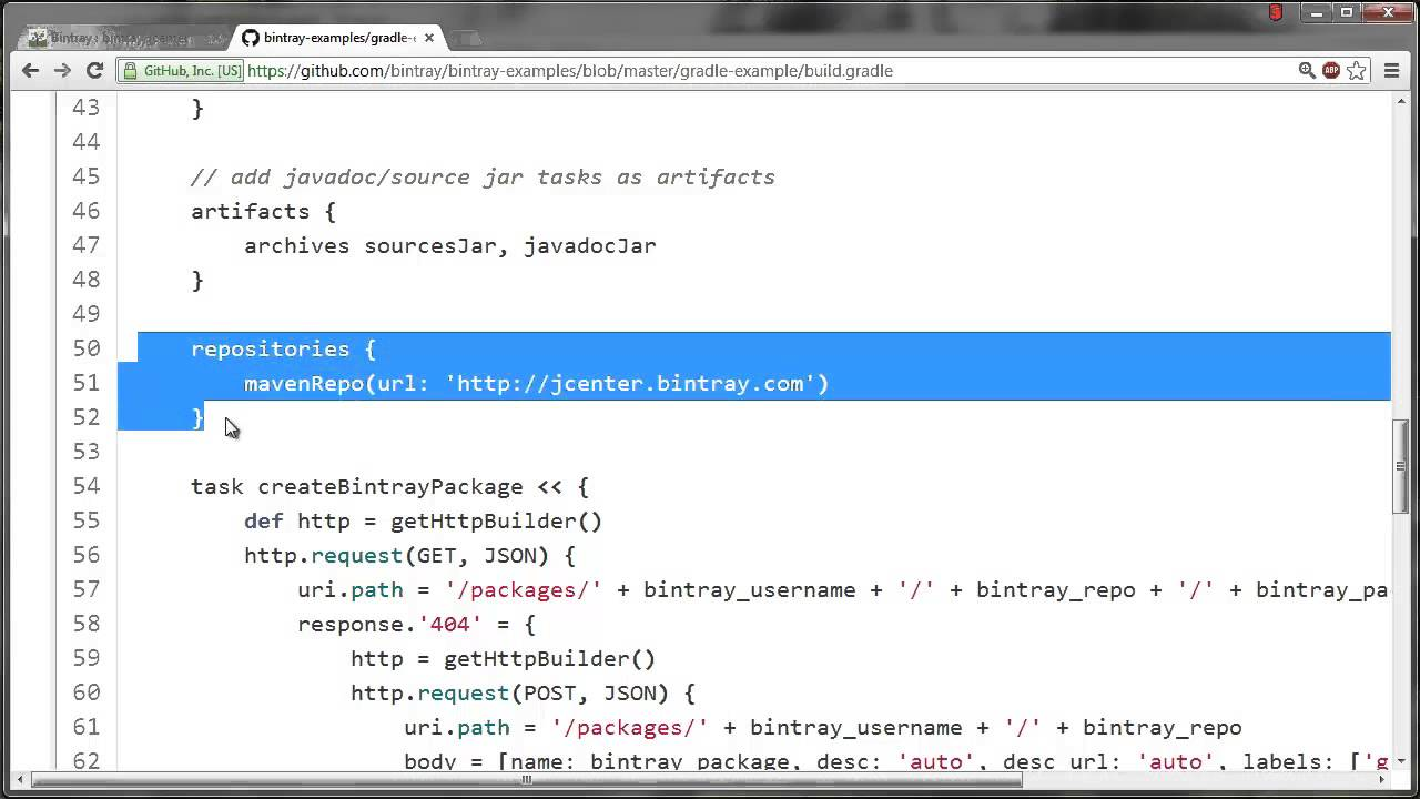 [Screencast] Using Bintray's JCenter for Gradle resolution