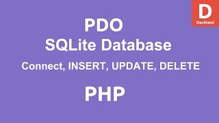 PHP SQLite Connect to Database - SELECT INSERT UPDATE Queries