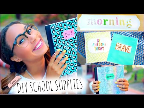 Thumbnail: DIY School Supplies! + Back To School Room Decorations