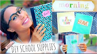 DIY School Supplies! + Back To School Room Decorations
