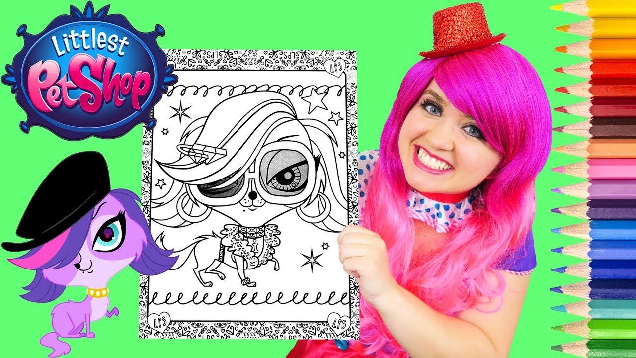 - Coloring Littlest Pet Shop Zoe LPS Coloring Page Prismacolor