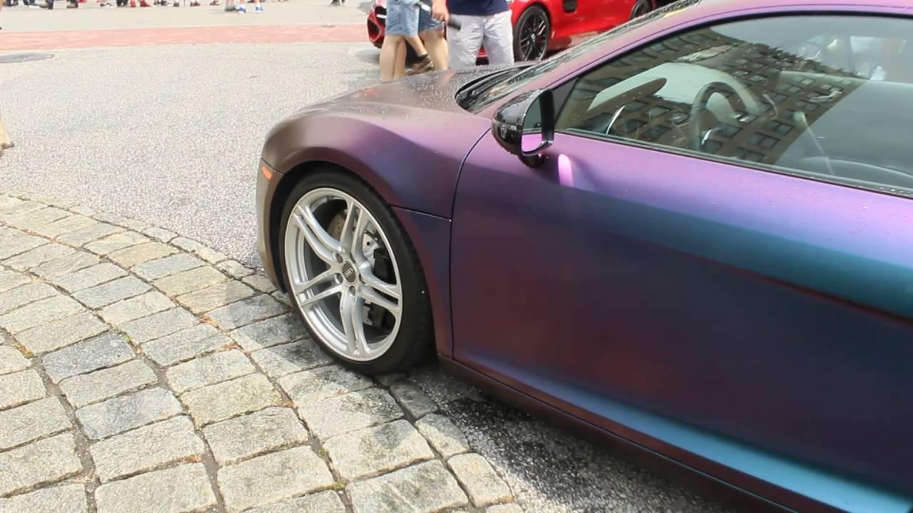 e7dde53a699e2a Chameleon Paint on Audi R8   Super Cars on State Street 2016 - YouTube
