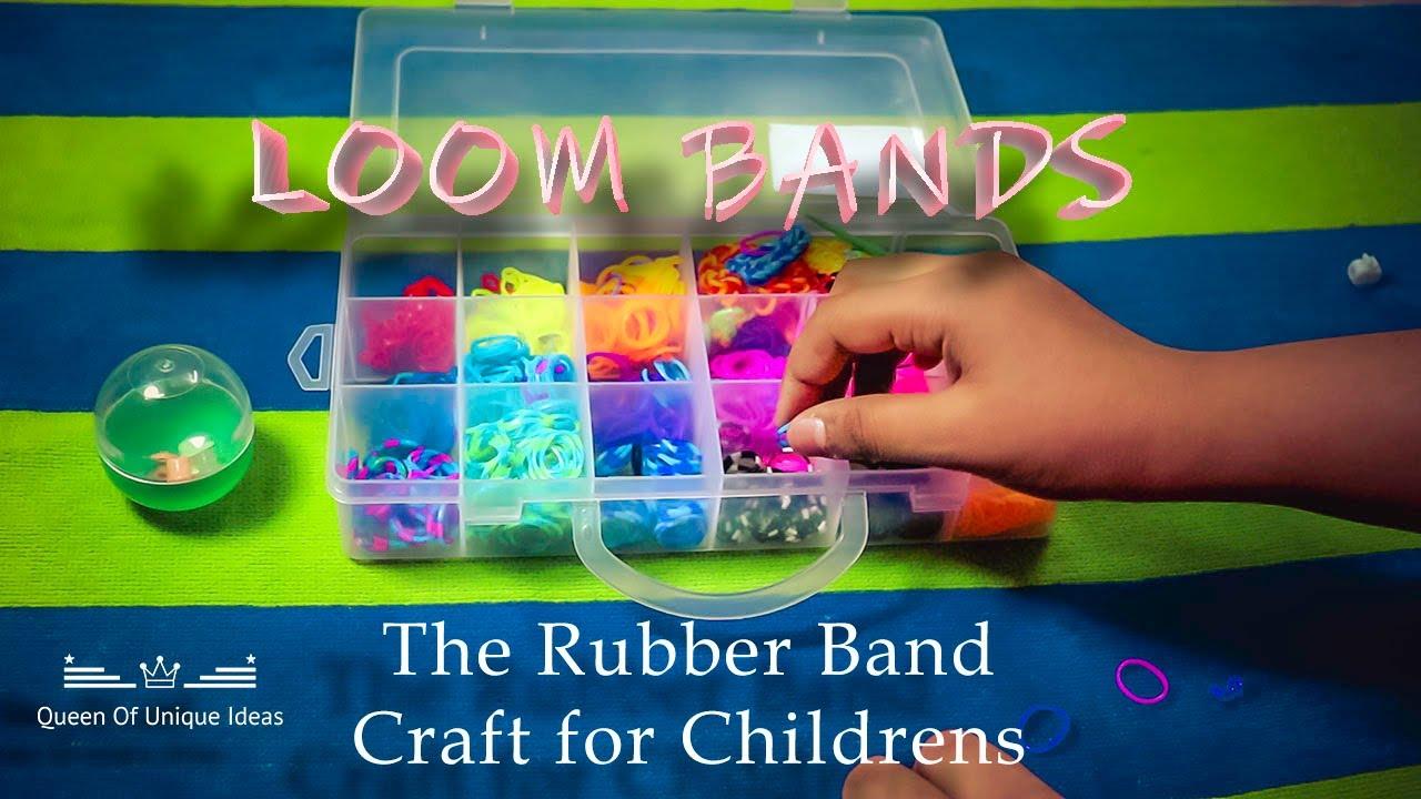 നിങ്ങൾ എപ്പോഴെങ്കിലും ഇത് ട്രൈ ചെയ്തിട്ടുണ്ടോ? Loombands -The Rubber Band crafts for Kids