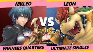 Buk Invitational Winners Quarters - MkLeo (Byleth) Vs. Leon (Bowser) Smash Ultimate - SSBU