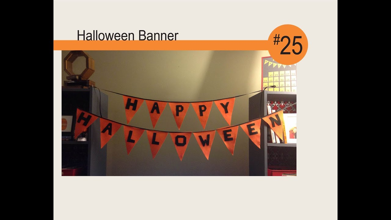 Halloween Banner - DIY - YouTube